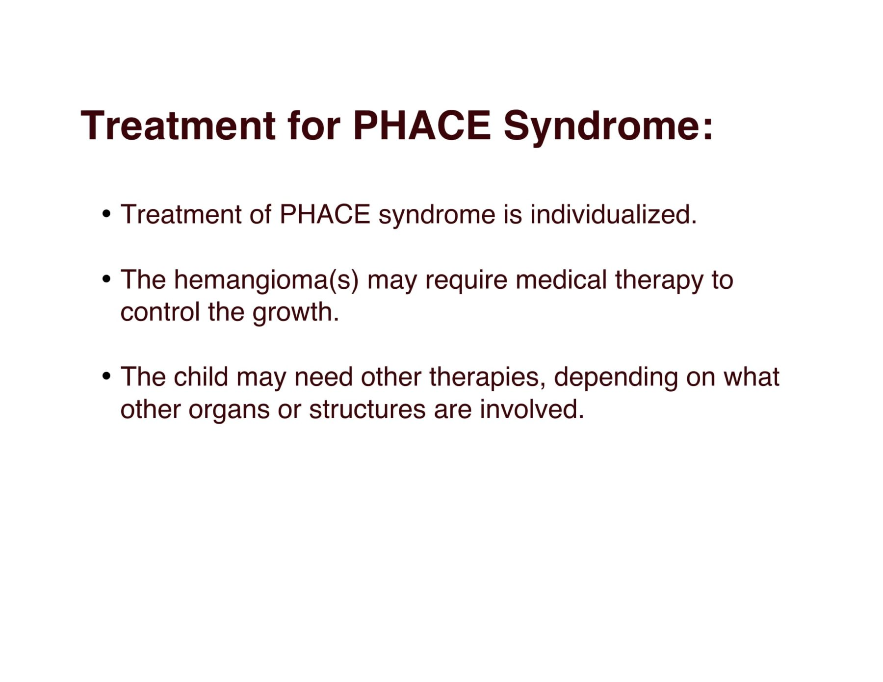 PHACE Syndrome - Positive ExposurePositive Exposure